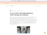 3 Uses of SEO That Helps Businesses Thrive During The Pandemic