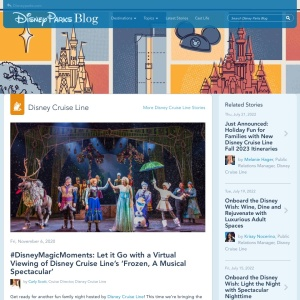 #DisneyMagicMoments: Let it Go with a Virtual Viewing of Disney Cruise Line's 'Frozen, A Musical Spectacular' | Disney Parks Blog