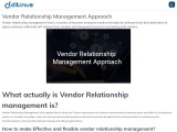 Vendor Relationship Management Approach