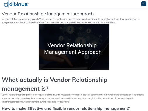 Vendor Relationship Management Approach