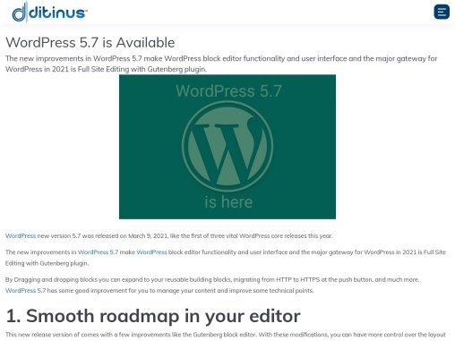 WordPress 5.7 is Available+++++