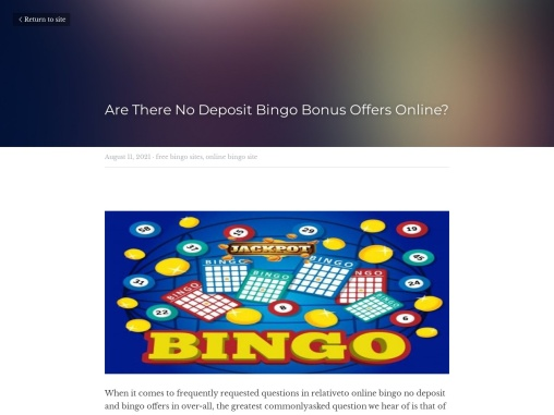 Are There No Deposit Bingo Bonus Offers Online?