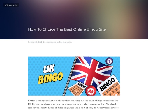 How To Choice The Best Online Bingo Site