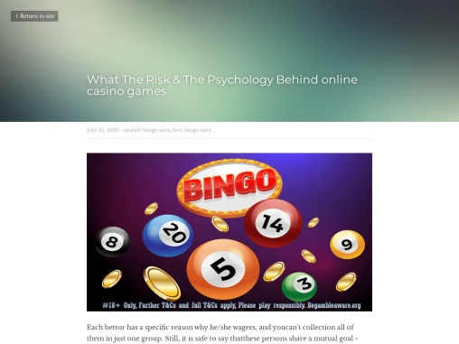 What The Risk & The Psychology Behind online casino games