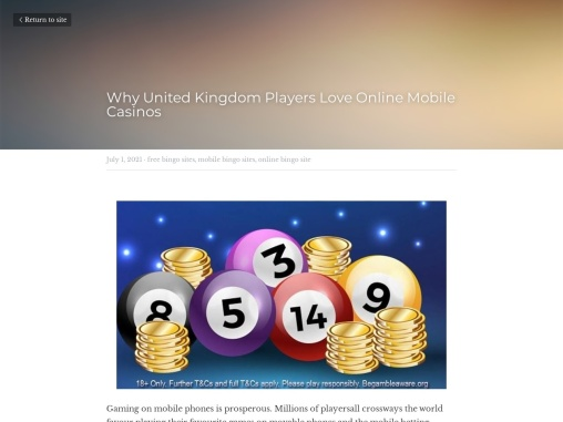 Why United Kingdom Players Love Online Mobile Casinos
