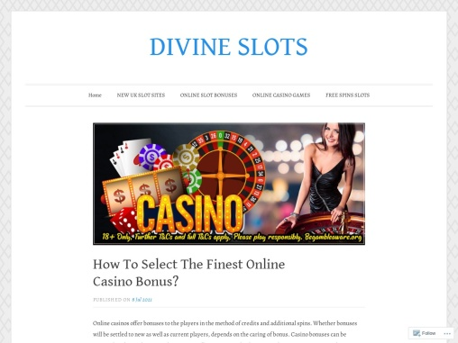 How To Select The Finest Online Casino Bonus?