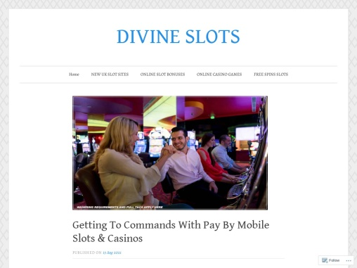 Getting To Commands With Pay By Mobile Slots & Casinos