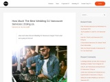 How Much The Best Wedding DJ Vancouver Services
