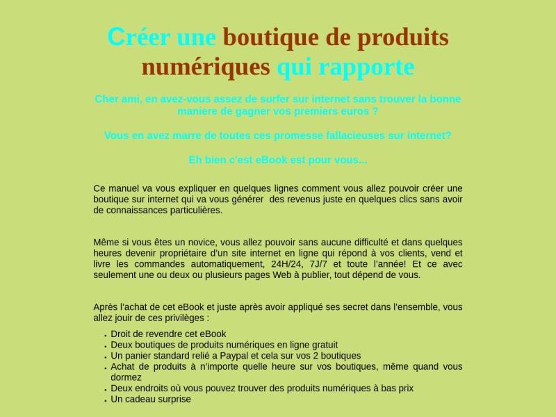 boutique numerique