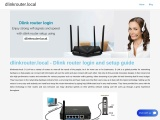 dlinkrouter.local : Dlink router admin page