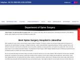 Best hospital for spine surgeon in Jalandhar.
