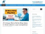 25 Unique Micro Niche Blog Ideas in Hindi (2021)