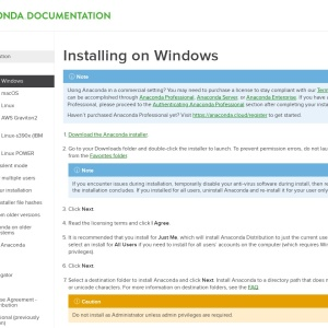 Installing on Windows — Anaconda  documentation