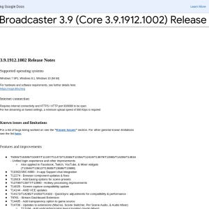 XSplit Broadcaster 3.9 (Core 3.9.1912.1002) Release Notes