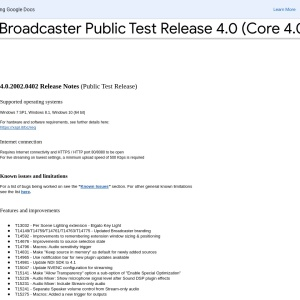 XSplit Broadcaster Public Test Release 4.0 (Core 4.0.2002.0402) Release Notes