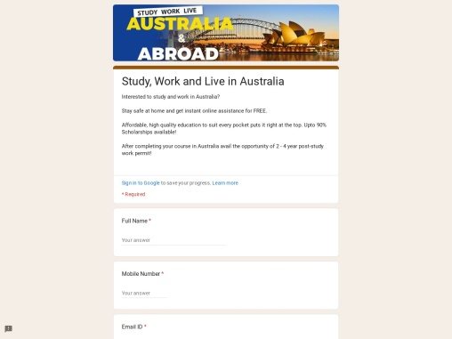 Kick-off your ambitious journey to study, work and settle in Australia!