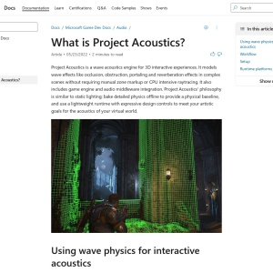 Project Acoustics Overview - Game Stack | Microsoft Docs