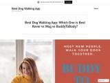 Best Dog Walking App: Which One is Best Rover vs Wag vs BuddyToBody?