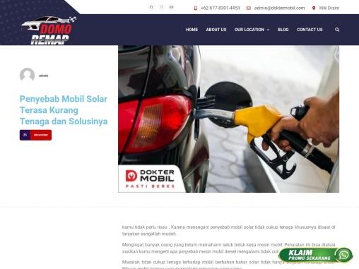 Penyebab Mobil Solar Terasa Kurang Tenaga dan Solusinya