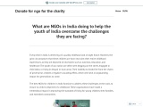 NGOs in India doing to help the youth of India overcome the challenges
