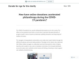 How have online donations accelerated philanthropy during the COVID-19 pandemic