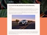 The new 2022 Lexus NX plug-in hybrid SUV