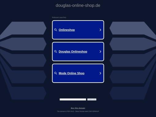 Douglas Online Shop – Parfum & Kosmetik kaufen