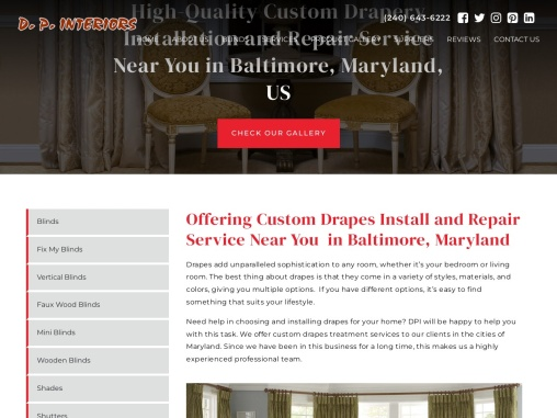 Custom Drapes Maryland-DP interiors