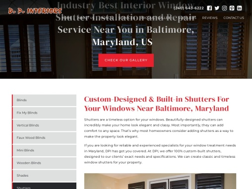 Shutters Maryland -DP interiors