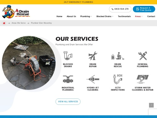 plumber in Glen Waverley offers professional drain cleaning