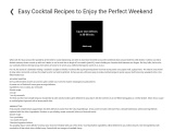 Easy Cocktail Recipes to Enjoy the Perfect Weekend