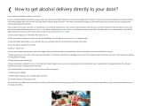 How to get alcohol delivery directly to your door?