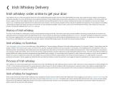 Irish whiskey: order online to get your door