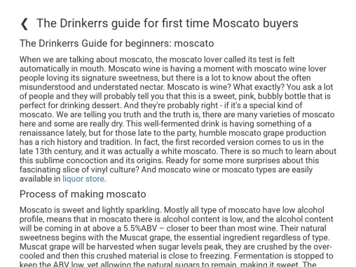 The Drinkerrs guide for first time Moscato buyers