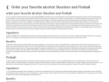Order your favorite alcohol: Bourbon and Fireball