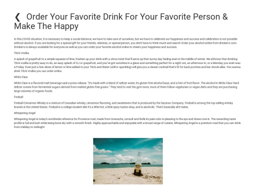 Order Your Favorite Drink For Your Favorite Person & Make The Happy