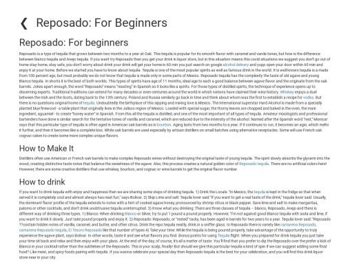 Reposado: For Beginners for drinkers