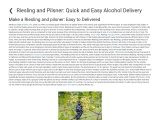 Riesling and Pilsner: Quick and Easy Alcohol Delivery