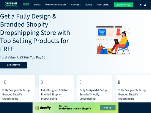 Get Shopify Store design FREE + Winning Products Access & WIN Prizes