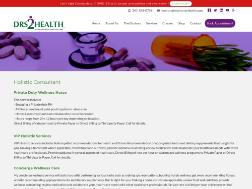 Naturopathic Doctors in New York | Drs2Health | Holistic Consultants New York