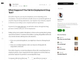 What Happens If You Fail An Employment Drug Test?