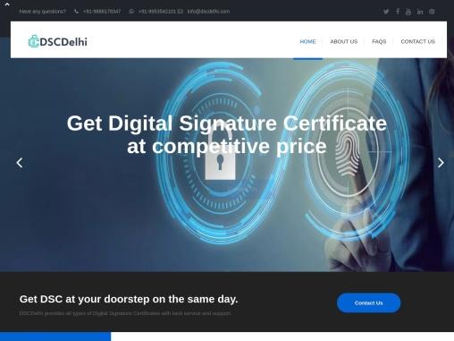 Digital Signature Certificate Provider in Delhi