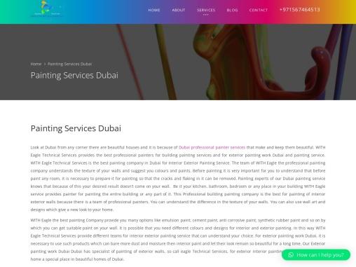 Dubai professional painter services
