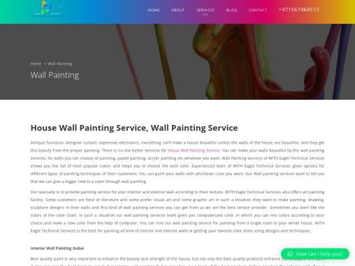 House wall painting services