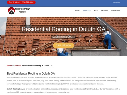 Looking for Residential roofing in Duluth GA