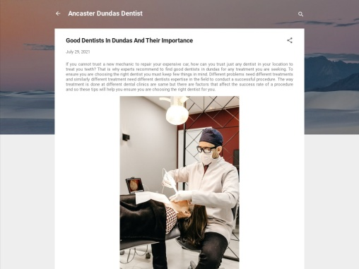 Good Dentists In Dundas And Their Importance