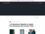 A Professional Website to Adapt Your Business with Current Time