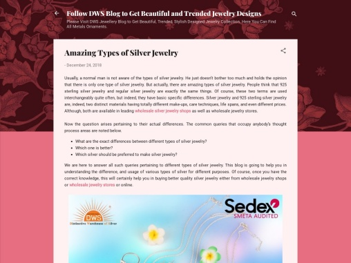 Amazing Types of Silver Jewelry
