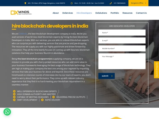 Hire block chain programmers in India