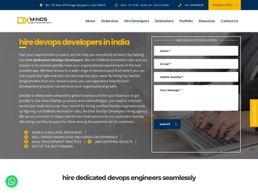 Hire DevOps developers in India | DxMinds